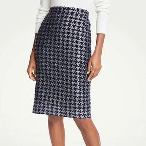 Ann Taylor Shimmer Houndstooth Pencil Skirt!
